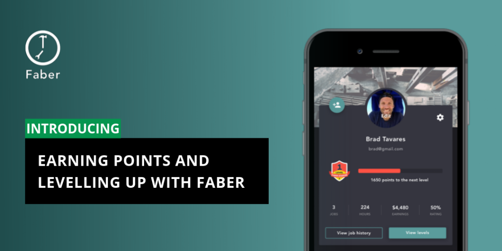 Earning Points and Levelling Up with Faber