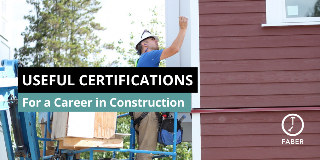 useful certifications for a career in construction