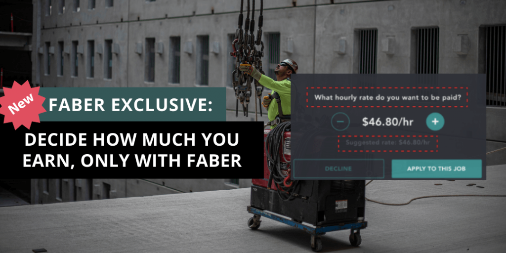 decide how much you earn in construction with faber